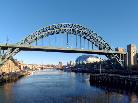 NEWCASTLE UPON TYNE, TYNE AND WEAR/UK - JANUARY 20 : View of the Tyne  Bridge in Newcastle upon Tyne, Tyne and Wear on January 20, 2018
