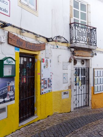 LAGOS, ALGARVEPORTUGAL - MARCH 5 : Old Restaurant and Bar in Lagos, Algarve Portugal on March 5, 2018