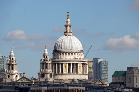 LONDONUK - MARCH 21 : View of St Pauls Cathedral across the Skyline of London on March 21, 2018