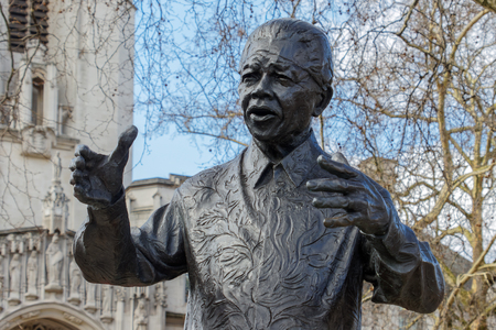 LONDONUK - MARCH 21 : Monument to Nelson Mandela in London on March 21, 2018
