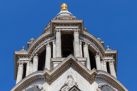 LONDON/UK - MARCH 21 : Close up View of St Pauls Cathedral in London on March 21, 2018 報道画像