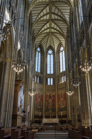 LANCING WEST SUSSEXUK - APRIL 20 : Interior View of Lancing College Chapel in Lancing West Sussex UK on April 20, 2018