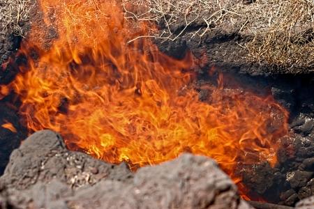 Volcanic Activity in Timanfaya National Park Lanzarote