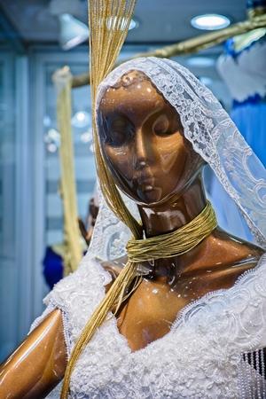 Wedding dress for sale in the Grand Bazaar in Istanbul Turkey