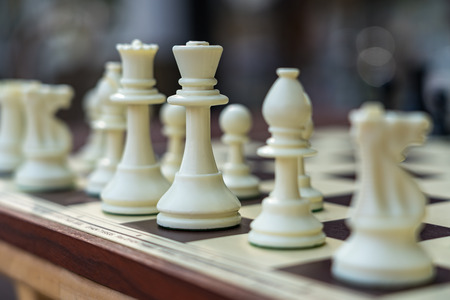 EAST GRINSTEAD,  WEST SUSSEX/UK - AUGUST 18 : Chess set outside a shop in East Grinstead West Sussex on August 18, 2018
