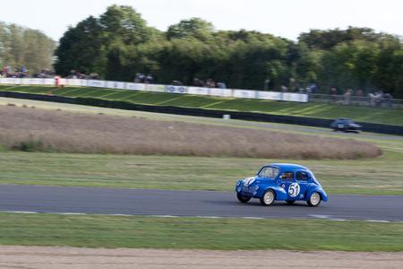 GOODWOOD, WEST SUSSEX/UK - SEPTEMBER 14 : Vintage Racing at Goodwood at Goodwood on September 14, 2012. One unidentified person