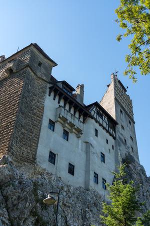 BRAN, TRANSYLVANIAROMANIA - SEPTEMBER 20 : Exterior view of Draculas Castle in Bran Transylvania Romania on September 20, 2018 Editöryel
