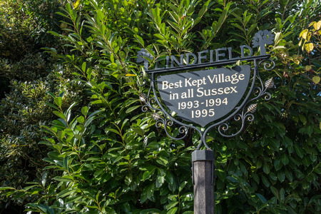 LINDFIELD, WEST SUSSEX/UK -OCTOBER 29 : View of the village sign in Lindfield West Sussex on October 29, 2018