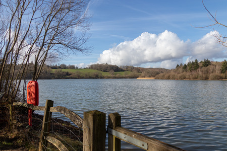 View of Ardingly Reservoir on a suuny winter's day Stock Photo