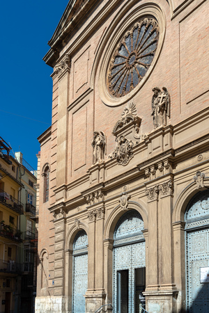 Exterior view Church of the Sacred Heart of Jesus in Valencia Spain Foto de archivo - 119405378