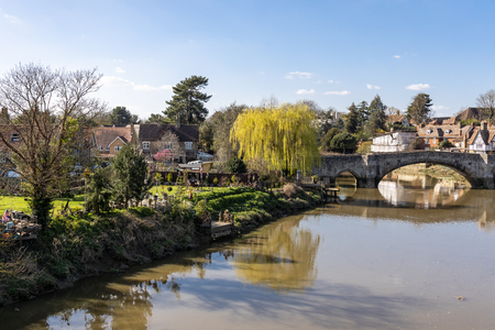View of the 14th century bridge at Aylesford