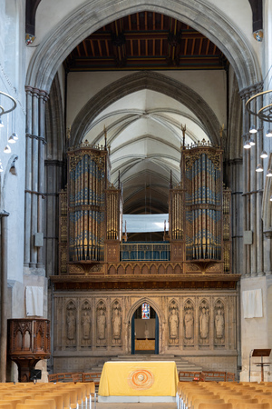 ROCHESTER, KENT/UK - MARCH 24 : View of the interior of the Cathedral at Rochester on March 24, 2019 Éditoriale