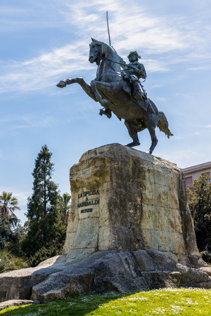 LA SPEZIA, LIGURIA/ITALY  - APRIL 19 : Monument to Garibaldi in La Spezia Liguria Italy on April 19, 2019