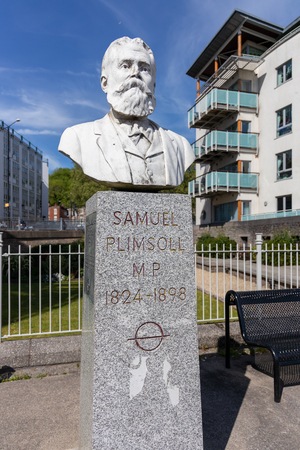BRISTOL, UK - MAY 13 : Monument to Samuel Plimsoll in Bristol on May 13, 2019 Editorial
