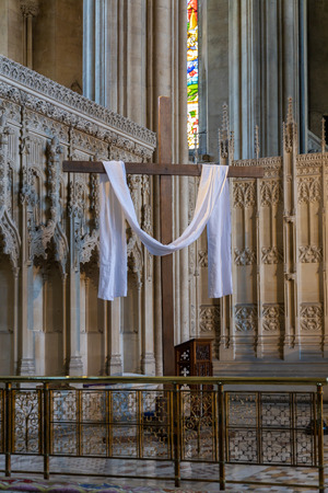BRISTOL, UK - MAY 14 : Interior view of the Cathedral in Bristol on May 14, 2019