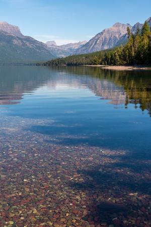 Colourful stones in Lake McDonald near Apgar in Montana