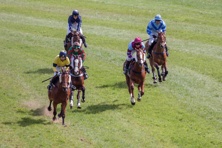 GODSTONE, SURREYUK - MAY 2 : Point to point racing at Godstone Surrey on May 2, 2009. Unidentified people