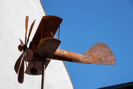 ST DAVID'S, PEMBROKESHIRE/UK - SEPTEMBER 13 : Rusting weathervane at St David's in Pembrokeshire on September13, 2019