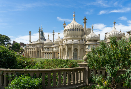 BRIGHTON, SUSSEX/UK - AUGUST 31 : View of the Royal Pavilion in Brighton Sussex on August 31, 2019 Stok Fotoğraf - 130377811