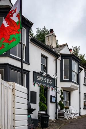 LITTLE HAVEN, PEMBROKESHIRE/UK - SEPTEMBER 12 : View of the Swan Inn at Little Haven Pembrokeshire on September12, 2019