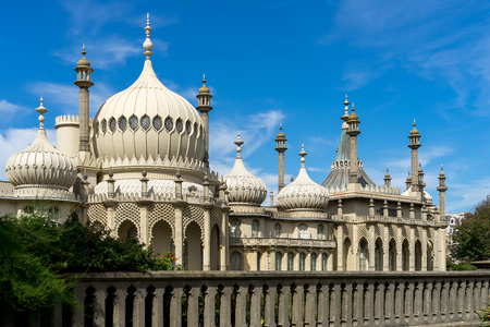 BRIGHTON, SUSSEX/UK - AUGUST 31 : View of the Royal Pavilion in Brighton Sussex on August 31, 2019 Stok Fotoğraf - 130377864