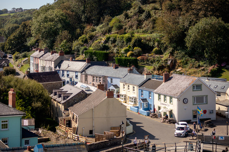 LITTLE HAVEN, PEMBROKESHIRE/UK - SEPTEMBER 14 : View of the village of Little Haven Pembrokeshire on September 14, 2019. Unidentified people