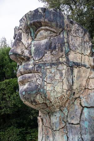 FLORENCE, TUSCANY/ITALY - OCTOBER 20 : Tindaro Screpolato sculpture in Boboli Gardens Florence on October 20, 2019 Editorial
