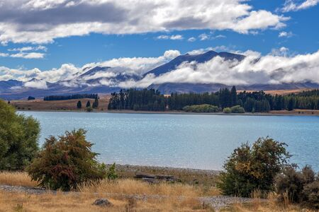 Scenic view of Lake Tekapo in the South Island of New Zealand