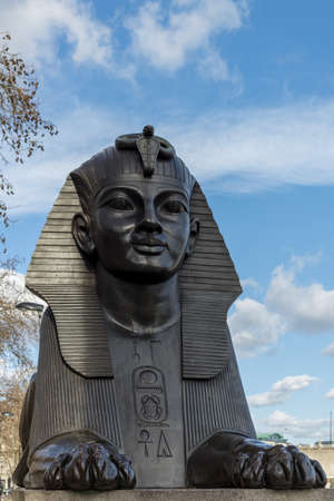 LONDON, UK - MARCH 11 : The Sphinx on the Embankment in London on March 11, 2019 Redakční
