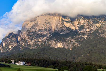 FIE ALLO SCILIAR, SOUTH TYROL/ITALY - AUGUST 7 : View of the Dolomites from Fie allo Sciliar, South Tyrol, Italy on August 7, 2020 Editorial