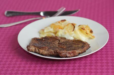 Beef with potatoes photo