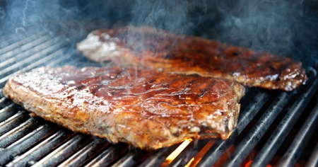 Ribs on the grill photo