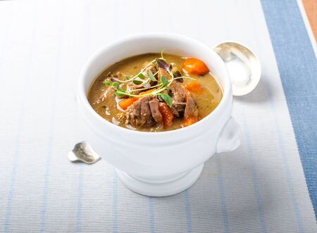 Stew of beef and vegetables photo