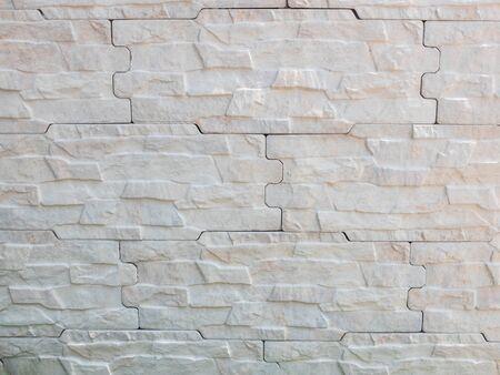 Decorative wall facing panels brickwork. Background pattern.