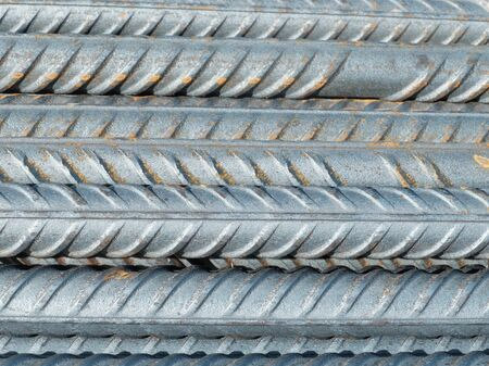 Steel reinforcement bars, industrial background, building armature.