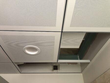 Making of false ceilings or suspended ceilings.