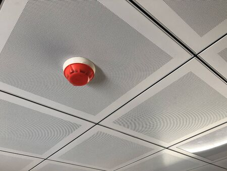 Fire detector at false ceiling. Fire alarm system