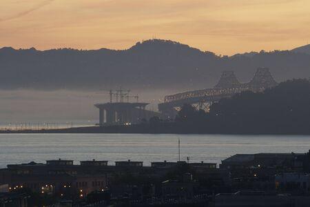 ile au tresor: Baie de la construction du pont, l'�le au tr�sor et Oakland Banque d'images
