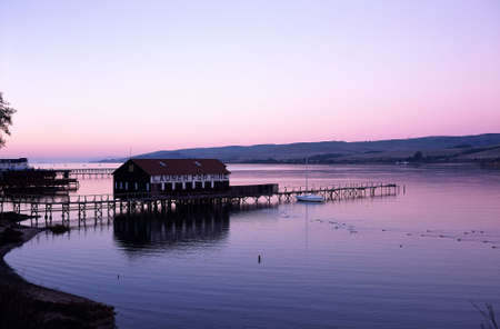 Sunset over Tomales Bay at Inverness