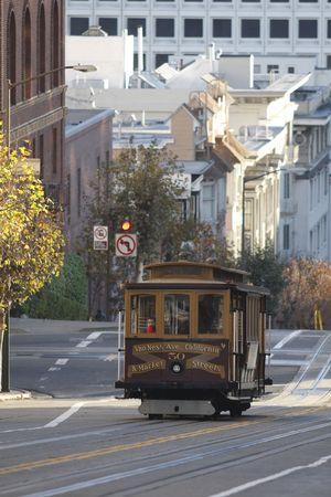 nob hill: cable car Stock Photo