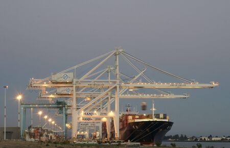 ship loading cranes