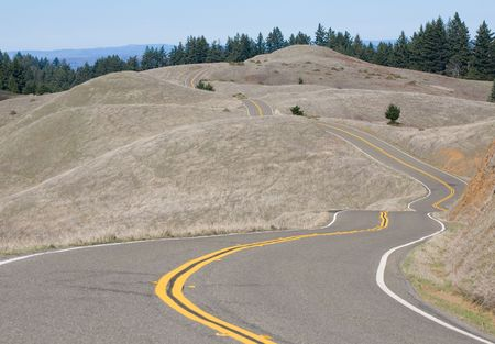 road cycling: winding mountain road, excellent for cycling Stock Photo