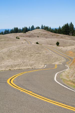 road cycling: winding mountain road, perfect for cycling