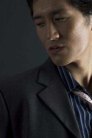 bloke: An asian model is lit from the side