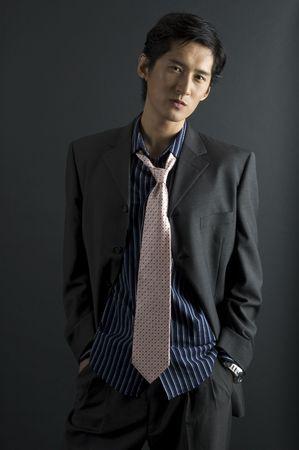 bloke: An asian model in smart casual clothing