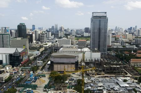 day time: An aerial view of Bangkok in the day time Stock Photo