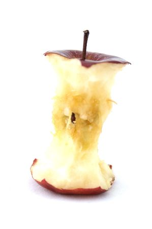 apple core: An apple core from a red apple