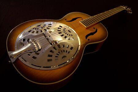 resonator: A beautiful antique acoustic guitar