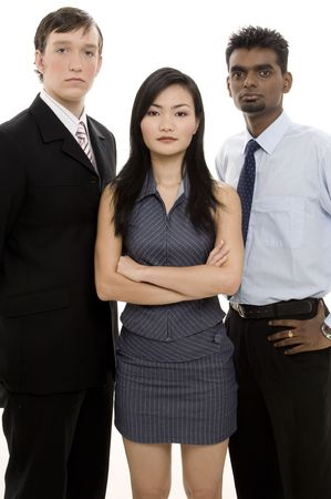 pinstripes: A diverse business team looks as if they mean business Stock Photo