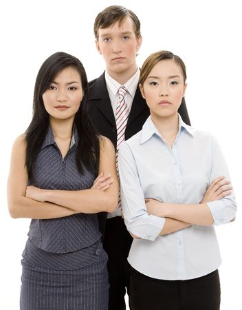 Three young executives look as if they mean business Stock Photo - 245067